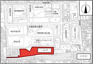 囲町東地区第一種市街地再開発事業 位置図