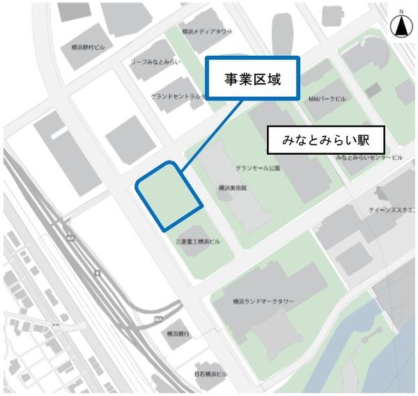 (仮称)MM37タワー 位置図