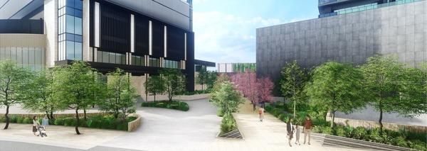 南池袋二丁目C地区第一種市街地再開発事業 敷地東側から見たイメージ