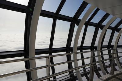 東京スカイツリーの天望回廊から見た雲海