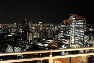 勝どきビュータワーから見た晴海トリトンスクエアの夜景