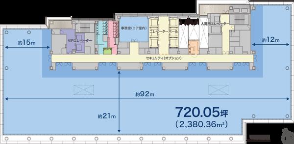 日比谷フォートタワー 14階平面図