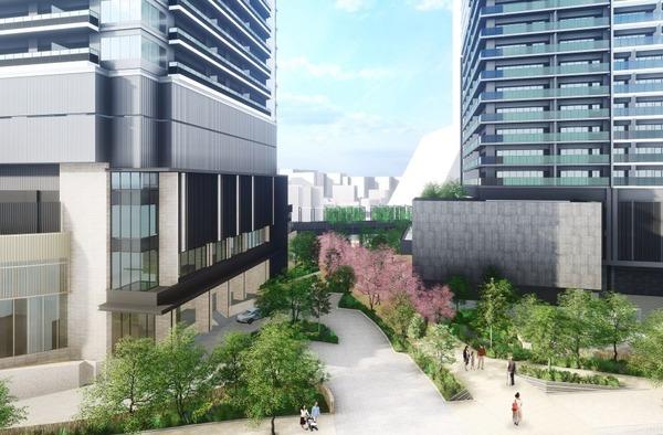 南池袋二丁目C地区第一種市街地再開発事業 敷地内通路と広場のイメージ