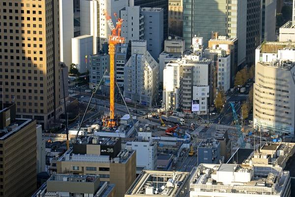 東京タワーから見た虎ノ門ヒルズ ステーションタワー
