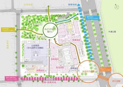 四谷駅前再開発事業 配置図