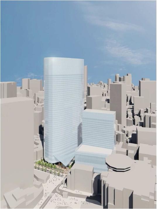 (仮称)赤坂二・六丁目地区開発計画 外観イメージ