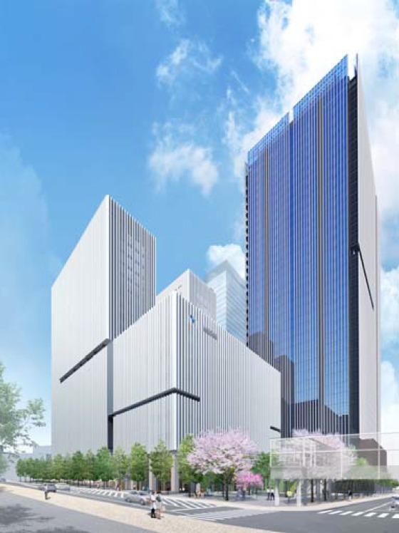 虎ノ門二丁目地区第一種市街地再開発事業 完成予想図