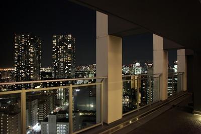勝どきビュータワーの21階にあるスカイデッキ