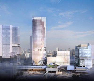 渋谷駅地区 駅街区開発計画のイメージパース
