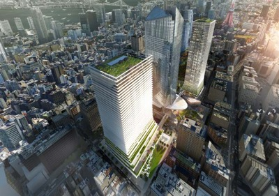 (仮称)虎ノ門ヒルズ ビジネスタワーの完成予想図