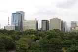 皇居から大手町方面の眺め