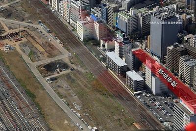 泉岳寺駅周辺の空撮