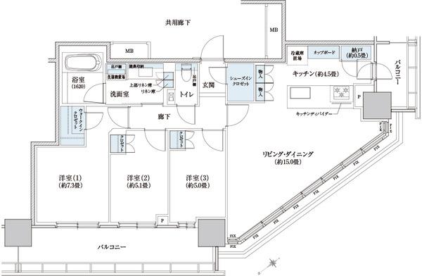 ブリリアタワー浜離宮 83A Type