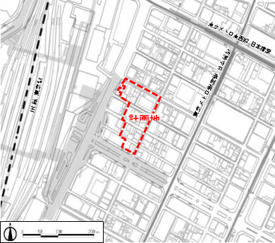 東京駅前八重洲一丁目東B地区第一種市街地再開発事業 位置図