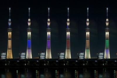 東京五輪開催記念特別ライトアップ 東京スカイツリー