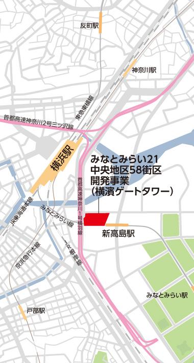 横濱ゲートタワー 位置図
