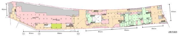 (仮称)新宿駅西口地区開発計画 2階平面図