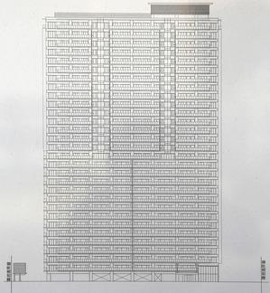 (仮称)大阪扇町計画新築工事 立面図