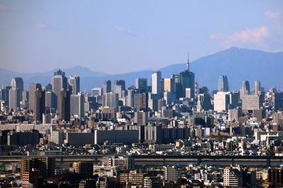 アイリンクタウン市川から東京タワー方面の眺め