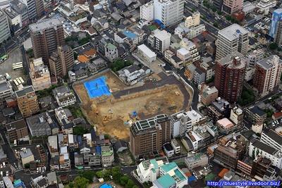 (仮称)天王寺大規模プロジェクトの空撮