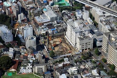 (仮称)白金六丁目計画新築工事の空撮