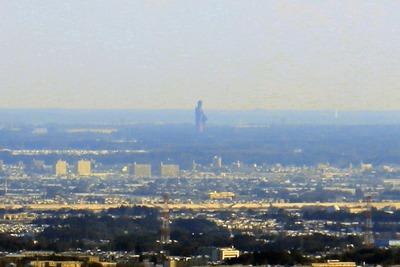 東京スカイツリーから見た牛久大仏