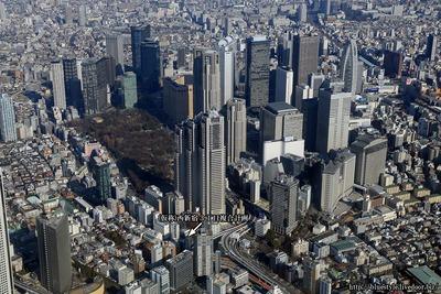 (仮称)西新宿3丁目複合計画 新築工事の空撮