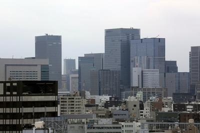 江戸東京博物館から見た八重洲・丸の内の超高層ビル群