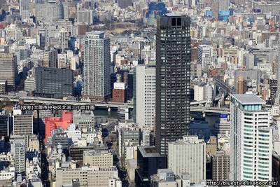 (仮称)大阪市中央区北浜二丁目計画の建設地の空撮