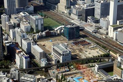 (仮称)TGMM芝浦プロジェクトの建設地の空撮