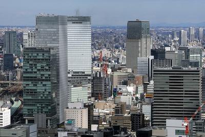 カレッタ汐留46階から見た新鉄鋼ビル