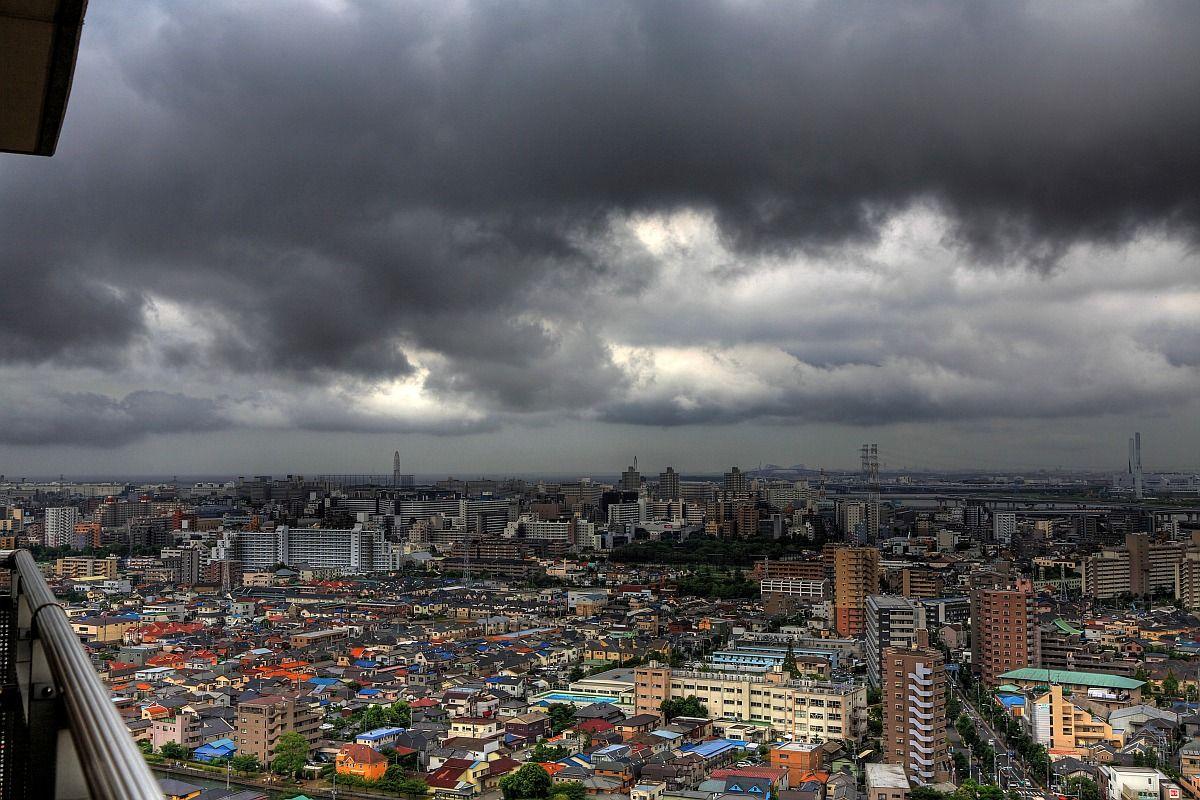 2012年8月18日 快_2012年8月18日の東京の空模様 : 超高層マンション・超高層ビル