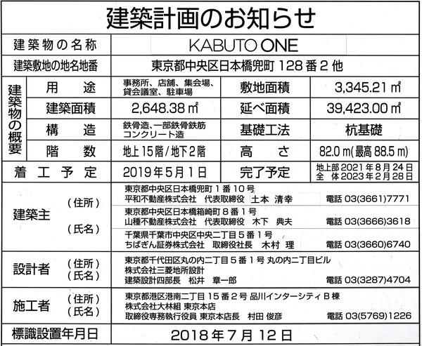 KABUTO ONE 建築計画のお知らせ