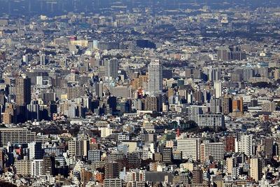 東京スカイツリーから見たパークタワー滝野川方面