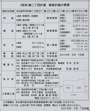 (仮称)錦二丁目計画_建築計画