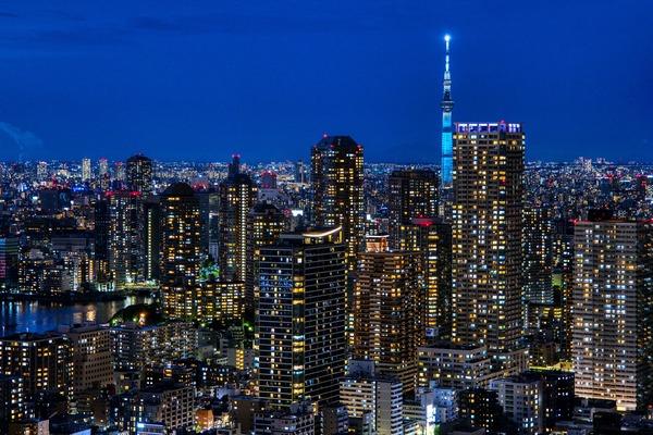 ドゥ・トゥールの高層階から見た夜景