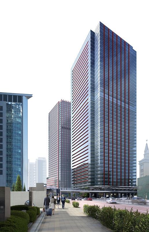 東京三田再開発プロジェクト 完成予想図