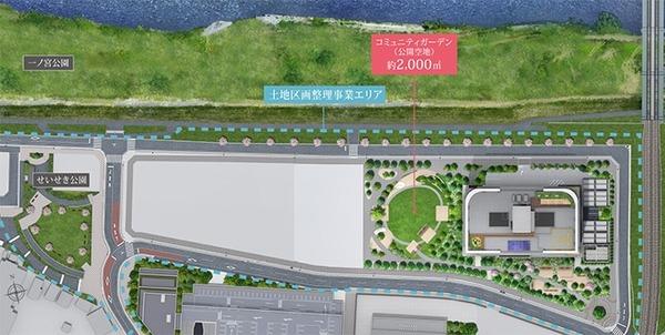 ブリリアタワー聖蹟桜ヶ丘ブルーミングレジデンス 土地区画整理事業概念図