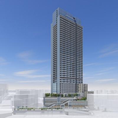 横浜駅きた西口鶴屋地区第一種市街地再開発事業 外観パース