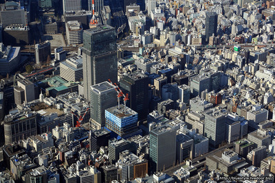 日本橋室町方面の空撮