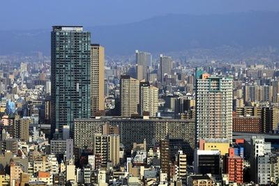 ホテル阪急インターナショナルから天満方面の眺め