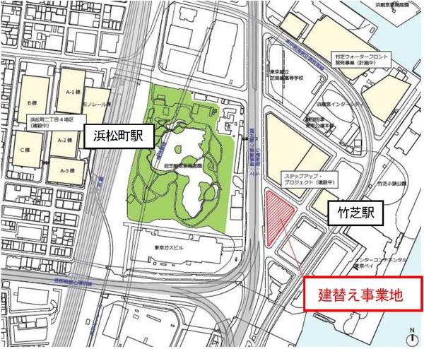 (仮称)イトーピア浜離宮建替計画 位置図