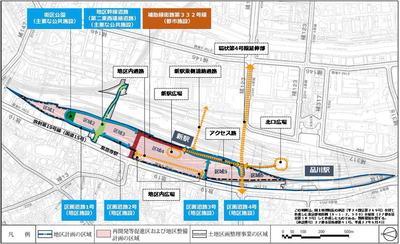 JR品川車両基地跡地開発(第�期) 計画図