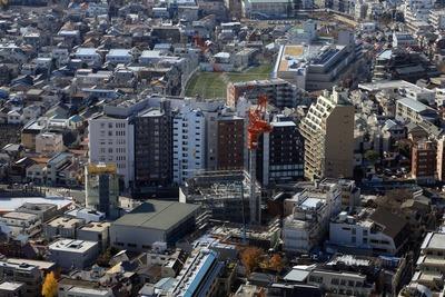 都庁から見たパークタワー渋谷本町