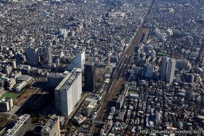 中野駅周辺の空撮