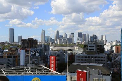 渋谷ヒカリエから見た新宿の超高層ビル群