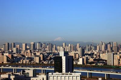 船堀駅前トキタワーから見た富士山