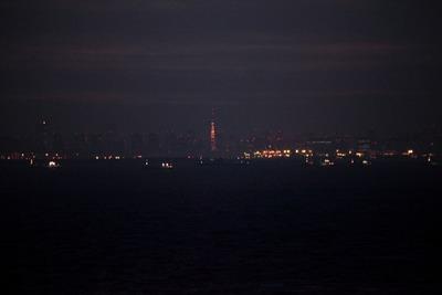 海ほたるから見えた東京夜景