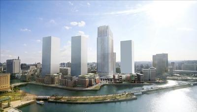北仲通北再開発等促進地区地区計画の完成予想図