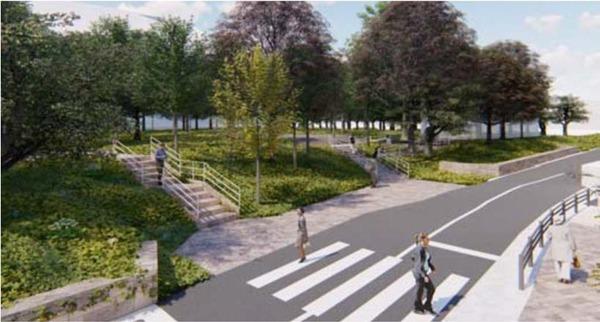 (仮称)赤坂七丁目2番地区再開発事業 高橋是清翁記念公園改修イメージ